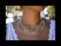 Tutorial Collar de Cadena con Cuentas de Cristal. DIY - YouTube