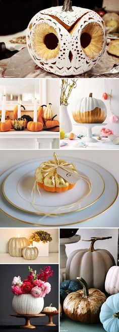 A Modern Halloween - Less spooky, more sparkle! #autumn_decor_gold