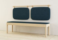 Wakufuru is a minimal family of tables and benches created by Sweden-based designer Johan Kauppi for Glimakra.