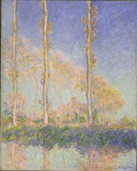 Poplars, 1891, Claude Monet, French, 1840 - 1926    Oil on canvas  36 5/8 x 29 3/16 inches (93 x 74.1 cm)