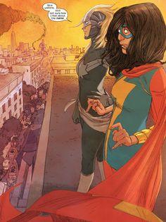Ms & Captain Marvel by Adrian Alphona