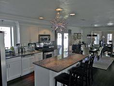 Black/White and that Chandy!!!!! South Shore Decorating Blog: BIG Changes to My House! (Sputnik Nova Chandelier, Black Walls, Black Ceilings....)