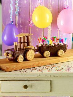 Trecker-Kuchen -  Toller Trecker aus fertigen Kuchen als Überraschung für den Kindergeburtstag