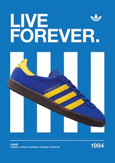 Cool Stockholm poster with oasis connection - Gazelle Adidas - Ideas of Gazelle Adidas - Cool Stockholm poster with oasis connection Adidas Og, Adidas Retro, Vintage Adidas, Adidas Sneakers, Bape, Adidas Classic Shoes, Shoes Ads, Men's Shoes, Shoe Poster