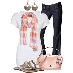 Scarf and Tee with a Flash by wishlist123 on Polyvore