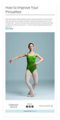 How to Improve Your Pirouettes #pirouette #ballet #turning