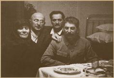 October 17, 1935. Tiflis. Stalin's mother Ekaterina Georgievna Dzhugashvili, Lavrenti Beriya. Nikolay Kipshidze (PCP), Stalin.