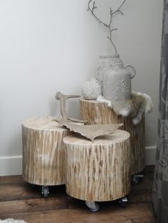 Log Furniture, Furniture Styles, Furniture Making, Wood Trunk, Wood Interiors, Creative Home, Decoration, Home Projects, Living Room Decor