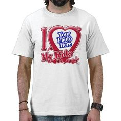 I Love My Kids red heart - photo Tee Shirt