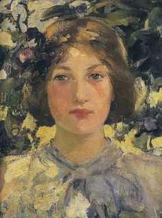 ⊰ Posing with Posies ⊱ paintings & illustrations of women & children with flowers - Bessie MacNicol