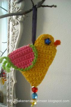 Paas Krans Haken Crochet Easter Wreath Bees And Appletrees Blog