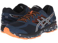 reputable site 9e44c 3933c ASICS Mens GT 2000 4 Trail Running Shoe Mediterranean Dark Slate Hot Orange  7 M US   Click image for more details. (This is an affiliate link)