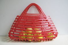 Soviet Plastic Tote Bag Vintage Russian Red Market by SkySecrets