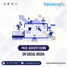 Paid Social Media advertisement is the best way to market your brand on the ever-growing social media platform. Paid advertisements can save a budget that might not be as expansive. And so our team of experts at Dakshraj creates a personalized social media strategy that will grow brand awareness among your target audience. So get in touch with us and grow your business. Ads Creative, Creative Advertising, Interactive Marketing, Social Media Marketing, Banner Online, Paper Weaving, Target Audience, Digital Marketing Services, Budget