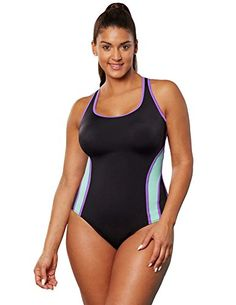 d1f3c37659191 Introducing Aquabelle Womens Plus Size Chlorine Resistant Xtra Life Lycra  Relay XBack Swimsuit 22 Multi. Grab Your Swimsuits Here and follow us for  more ...