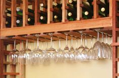 If you try to obtain the wine glass rack that made of wood, make sure that your kitchen is in a vintage or country mood. Description from mypersonalizedwineglasses.com. I searched for this on bing.com/images