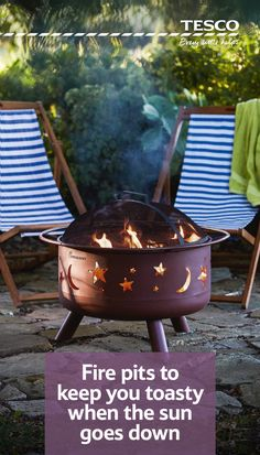 Make a statement at your al fresco party this summer with this stunning fire pit, just £115. Decorated with moons and stars, which are cut into the metal and given a vibrant glow by the flames within, it is all you need to give your night a wonderfully co