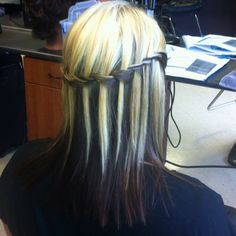 Yet another angle of the waterfall braid, I love the way it looks with the 2 toned hair