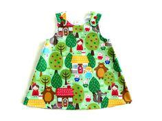 Baby a-line dress little girls a-line dress by NaturalKidsClothing