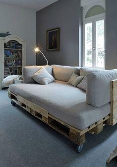 Ideias-para-decorar- sala sofá de paletes