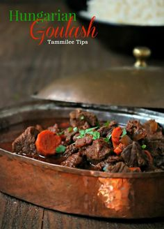 Hungarian Goulash Recipe! Make this comfort food at home! This beef recipe is filled with yummy goodness! So easy to make and tastes amazing!