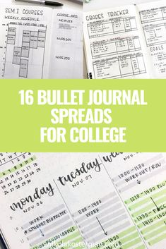 The Best Bullet Journal Spreads For College Students - Bullet Planner Ideas Bullet Journal For University, Bullet Journal For College, Bullet Journal Student, Bullet Journal For Beginners, Bullet Journal Notes, Bullet Journal Hacks, Bullet Journal How To Start A, Bullet Journal Spread, Bullet Journal Layout