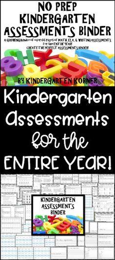 Kindergarten Assessments for the ENTIRE YEAR! - Kindergarten Korner