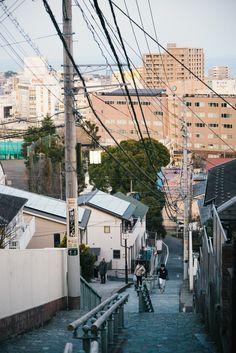 Untitled by Tagosaku Aesthetic Japan, Japanese Aesthetic, City Aesthetic, Photographie Portrait Inspiration, Japan Street, Japanese Streets, Japanese Architecture, Hayao Miyazaki, City Photography
