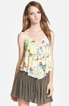 ASTR Double Layer Print Camisole available at #Nordstrom