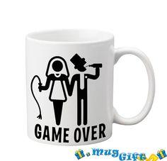 Mug Game Over Funny mug for giftCeramic Coffee Mug 11 by MugGift