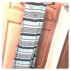 saleNavy blue white stripe cute maxi dress Long cute women maxi dress well maintained Dresses Maxi