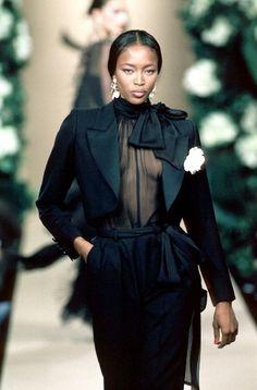Naomi Campbell Yves Saint Laurent SS1999. Vintage fashion