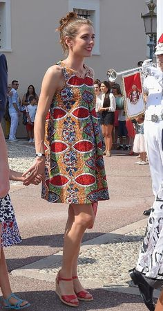 Queen Letizia, Princess Victoria, Princess Charlene and Charlotte Casiraghi: A gallery of the week's best royal style Princess Charlotte Of Monaco, Princess Charlene, Princess Victoria, Royal Fashion, Girl Fashion, Ariana Grande Outfits, Estilo Real, Short Dresses, Summer Dresses