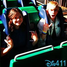 Kelli Berglund, Maia Mitchell, Ross Lynch And Billy Unger At Disneyland February 16, 2013 - Dis411