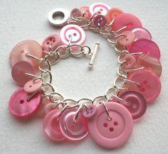 button charm bracelets