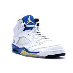 a7ff54787bfd Nike Air Jordan 5 V Retro High Men-Laney (White Varsity Royal- Varsity  Maize)-jordan shoes