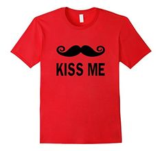 Looking for a cool Valentines Day gift for him or her? Then you've come to the right place. Our funny kiss me mustache shirt will make a great present for your boyfriend, girlfriend, husband or wife. This cute Valentine's Day tshirt is sure to be a hit whether it is for women, men, girls, boys or kids. A soft comfy design tee perfect for parties or a night out on the town.