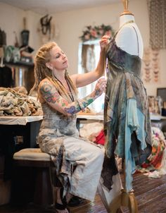"""""""I'm captivated by relics from the past that have stories to tell. I harvest the lost, the broken, and the castoffs, and then reincarnate them into new forms of art."""" — Gigi Renee' 
