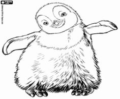 The little penguin Gloria coloring page