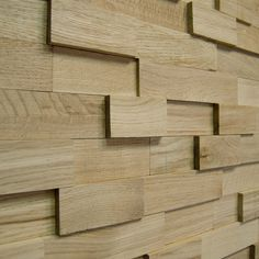 Wallure Striped - Oak - Wide - Sleek - Natural Wooden Wall Panel