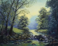 Rocky Riverbed Painting