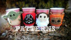 SALEPATTERN: Star Wars Coffee Cozy Set of 4 por xoxoTouchofLovexoxo