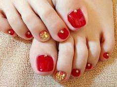 赤のワンカラーフットネイル Colorful Nail Designs, Toe Nail Designs, Nails Design, Mani Pedi, Manicure, Cute Pedicures, Feet Nails, Pretty Toes, Toe Nail Art