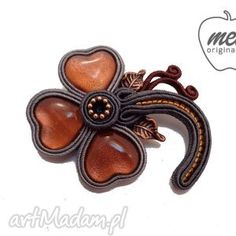 Арто цветок брошь кос конечности - Мела - броши, тесьма, конечности, цветок