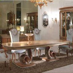 Furniture manufacturers supply custom luxury big dining table 8881 , you can save at least cost, provide one-stop door-to-door delivery service. Luxury Home Furniture, Classic Furniture, Furniture Styles, Custom Furniture, Cool Furniture, Furniture Sets, Dining Table Design, Wooden Dining Tables, Dining Chairs