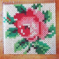 Rose flower hama beads by simiva