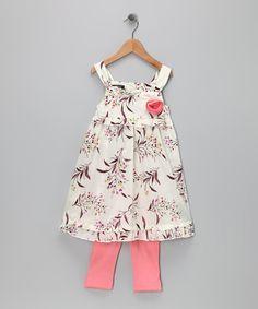 White Flower Dress & Leggings - Infant & Toddler