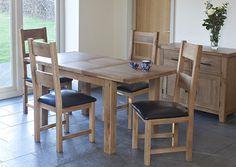 Hampshire dining, rectangular table ext 120 - 180 cm