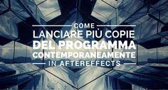 Carlo Macchiavello ci spiega come lanciare più copie di AfterEffects contemporaneamente. Clicca qui per iscriverti subito al corso Adobe After Effects da noi: http://www.espero.it/corsi-adobe/after-effects-pronti-via?utm_source=pinterest&utm_medium=pin&utm_campaign=videovanguards