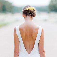 Le dos vertigineux de notre robe Rose #elisehameau #elisehameaubrides #elisehameau2016 #weddingdress #realbrides #dosnu #robedemariée